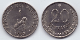 PARAGUAY - SCARCE COIN 20 CENTAVOS CHOICE UNC - 1903 - Paraguay