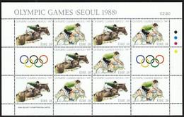 Ireland / Olympic Games Seoul 1988 / Equestrian, Cycling / Mi 645-646 / MNH Sheet - Ete 1988: Séoul