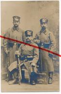 PostCard - Original Foto - Tournai - Weihnachten 1914 - Drei Landsturm-Männer Landwehr - Photo: J. Messiaen - Tournai