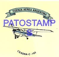 97771 AVIATION AVIACION FUERZA AEREA ARGENTINA CESSNA - C- 182 CALCO STICKER 7 X 6 CM NO POSTAL POSTCARD - Transports