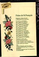 Prière De Saint François - Décoré De Fleurs Naturelles - Saints