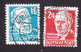 Germany, Soviet Zone, Scott #10N35, 10N37, Used, Virchow, Thalmann, Issued 1948 - Soviet Zone