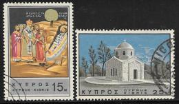 Cyprus, Scott # 269-70 Used St. Barnabas, 1966 - Chypre (République)