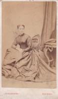 ANTIQUE CDV PHOTO -  SEATED LADY. LARGE DRESS.  LIVERPOOL STUDIO - Photographs