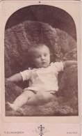 ANTIQUE CDV PHOTO -YOUNG CHILD ON FURS. HALIFAX STUDIO - Photographs