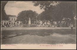 Postal São Tomé E Principe - Feiras E Romarias - Um Aspecto Da Feira Na Cidade (Ed. A. Palanque, Nº13) - Postcard - CPA - Sao Tome Et Principe