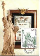 3639 -CENTENAIRE MORT BARTHOLDI (statue De La Liberté) MUSÉE COLMAR Au 6-3-2004 - Maximumkarten