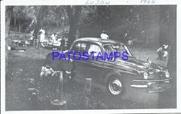 97785 AUTOMOBILE OLD CAR AUTO SEDAN IN LUJAN YEAR 1964 PHOTO NO POSTAL POSTCARD - Ansichtskarten