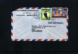 Guyana Interesting Airmail Letter - Guyana (1966-...)