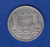 Bulgarie  100 Leva  1934 - Bulgaria