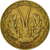 Monnaie, West African States, 10 Francs, 1971, TTB, Aluminum-Nickel-Bronze - Costa D'Avorio