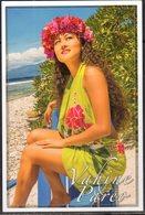 FRENCH POLYNESIA, 2015, MINT POSTAL STATIONERY, PREPAID POSTCARD, MISS TAHITI, FLOWERS, MOUNTAINS - Stamps