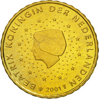Pays-Bas, 10 Euro Cent, 2001, SPL, Laiton, KM:237 - Paesi Bassi
