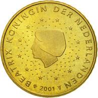 Pays-Bas, 50 Euro Cent, 2001, SPL, Laiton, KM:239 - Paesi Bassi