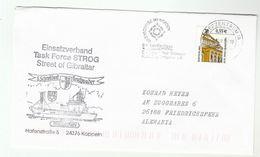 2003 STROG TASKFORCE GIBRALTAR - GERMANY NAVY SHIP Cover Germany Stamps Nato Forces - Gibraltar