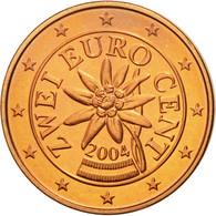 Autriche, 2 Euro Cent, 2004, FDC, Copper Plated Steel, KM:3083 - Austria