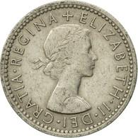 Monnaie, Grande-Bretagne, Elizabeth II, 6 Pence, 1954, TTB, Copper-nickel - 1902-1971 : Post-Victorian Coins