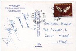 COTE D'IVOIRE - ABIDJAN LE MARCHE' DE TREICHVILLE / THEMATIC STAMP-BUTTERFLY - Costa D'Avorio