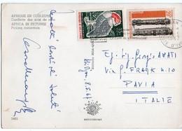 AFRIQUE EN COULEURS - CUEILLETTE DES NOIX DE COCO / COTE D'IVOIRE THEMATIC STAMPS-BIRD / MUSIC - Costa D'Avorio