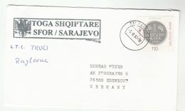 1998 SFOR Stabilisation Force In Bosnia And Herzegovina COVER German Forces SARAJEVO Nato Geramny Stamps Military Forces - Bosnia And Herzegovina