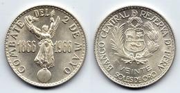 PERU - SILVER 20 SOLES 2 DE MAYO NAVAL BATTLE - 1966 UNC - Pérou