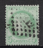 BELLE OBLITERATION PC Du GC 412 De BEDARIEUX (HERAULT) Sur CERES 5c VERT - 1871-1875 Ceres