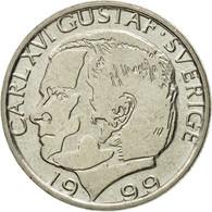 Monnaie, Suède, Carl XVI Gustaf, Krona, 1999, TTB, Copper-nickel, KM:852a - Sweden