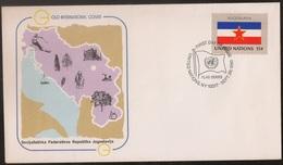UNITED NATIONS - COVER FDC 1980 Yugoslavia Jugoslavija - Flag Series - Cancel New York - Gold International Cover - ONU - New-York - Siège De L'ONU
