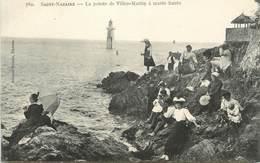 """CPA FRANCE 44 """" St Nazaire, La Pointe De Villez Martin à Marée Haute"""" - Saint Nazaire"""