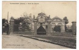 80 FLIXECOURT CPA école Des Garçons - Flixecourt