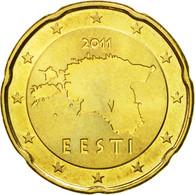 Estonia, 20 Euro Cent, 2011, SPL, Laiton, KM:65 - Estonia