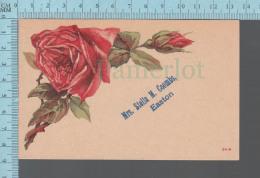 """Carte à Personnaliser   - Fleurs, """"Mrs Stella M. Coombs, Easton"""" On Identifiait Le Nom De La Destinataire CPA - Prénoms"""