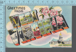 Greeting From West  Virgina, Large Letters -  #16552 - Souvenir De...