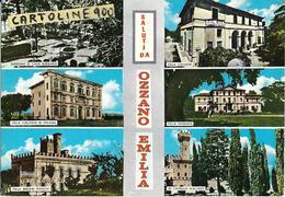 Emilia Romagna-bologna-ozzano Emilia Vedute Vedutine Ville Castello Giardino Ozzano Saluti Da Ozzano Dell'emilia - Autres Villes