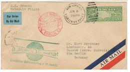 6323 - Catapulté Du BREMEN - 1c. 1918-1940 Covers