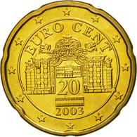 Autriche, 20 Euro Cent, 2003, SPL, Laiton, KM:3086 - Autriche