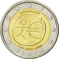 Pays-Bas, 2 Euro, 10 Ans De L'Euro, 2009, SPL, Bi-Metallic, KM:281 - Pays-Bas