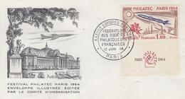 Enveloppe  FRANCE   PHILATEC   Congrés  Des  Sociétés  Philatéliques     PARIS   1964 - 1960-1969