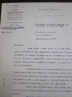 Lettre Du Ministère De La Production Industrielle Et Du Travail, Assurances Sociales, 1942 - Oude Documenten