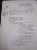 Conduite Montante : Formulaire De La Compagnie Parisienne D' Éclairage Et De Chauffage Par Le Gaz, Paris, 1898 - Vieux Papiers