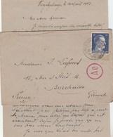 HITLER 25 PF SUR LETTRE LAGER VOGELSANG TORGAU 9/8/43 STO + CENSURE POUR BORDEAUX - Marcophilie (Lettres)