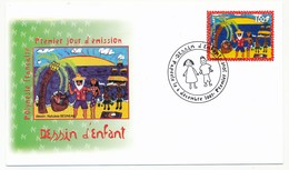 POLYNESIE FRANCAISE - 1 Enveloppe FDC - Dessin D'enfant - Papeete 6 Décembre 2007 - FDC