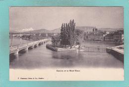 Old Card Of Geneve Et Le Mont-Blanc,Geneva,Switzerland,S56. - GE Geneva