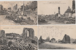 "18 / 8 / 180   -  Lot  De  7  CPA. "" GRANDE  GUERRE  1914/18  "" RUINES  DIVERSES - Cartes Postales"
