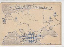 Feldpostkarte Mit Privatem Zudruck - Weihnachten In Russland - Allemagne