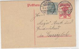 P 115 Mit Zusatzfrankatur Aus LÖHNE (WESTF:) ORT 10.4.20 - Briefe U. Dokumente