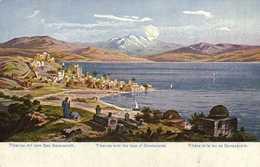 Illustrateur Signé Tibère Et Le Lac De Genezareth RV - Israel