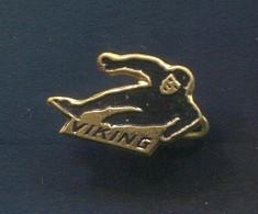 VIKING - Ice Figure Skating, Vintage Pin, Badge, Abzeichen - Skating (Figure)