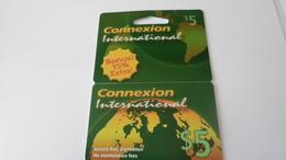 TELECARTES CONNEXXION INTERNATIONALE  5 $  ******  RARE   A   SAISIR ****** - Télécartes