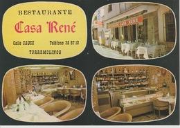 18 / 8 / 185. - RESTAURANTE  CASA  RENÉ  - TORRESMOLINOS  - CPM - Espagne
